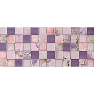 Плитка рельеф Aquarelle lilac wall 03 250х600